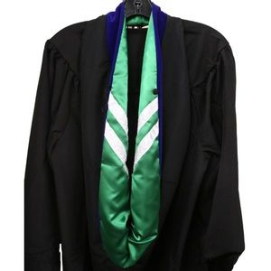 Graduation Hood (Master's, green & blue)
